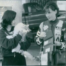 Actress Christina Ricci and Bess Armstrong together in a movie scene