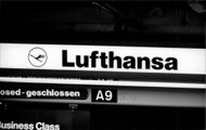 Interior image from airport operated by Lufthansa.