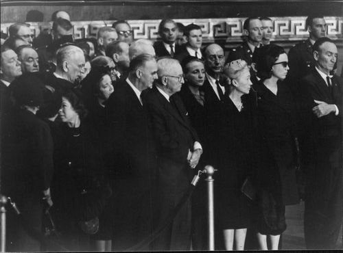 Close friends of John F. Kennedy at his funeral day, Capitol Building, 1963