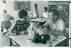 RAF men in luxury Hotel during 1965's Zambia Crisis
