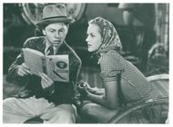 """Mickey Rooney and Ann Rutherford in the movie """"Stacky Andy Hardy"""" - Year 1939"""
