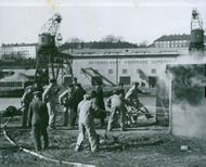 Air protection exercise. Sweden 1938
