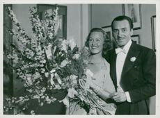 Actress Grace Moore with her husband Valentine Parera