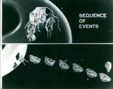 1966  Illustration of the procedure and sequence for coming out from a space craft.