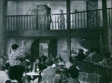 """A scene from the film """"Do not be fancy"""", 1947."""