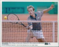 Stefan Edberg plays his first match in 8 years.