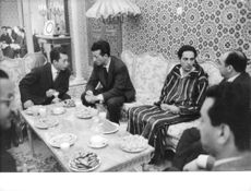 Prince Moulay Abdellah with his relatives.