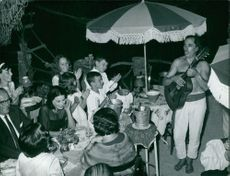 Silvana Mangano in a party.