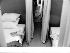 A photo of a room where Robert F. Kennedy slept.