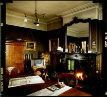 Keep the Home burning, Mr Straw's living room . When he died, the family coped by changing nothing.