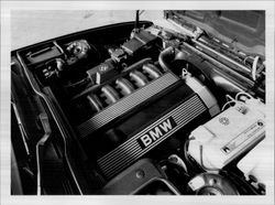 Overview of a BMW engine.