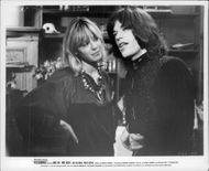 """Anita Pallenberg and Mick Jagger in the movie """"Performance"""""""