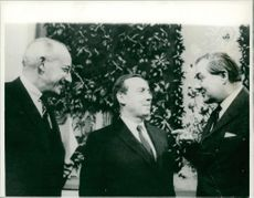Eugene Rostow, Michel Debre and James Callaghan.