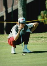 Golf contest JC Penney Classic in USA. Helen Alfredsson