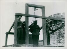 Alphons Klein being hanged for doing a crime.