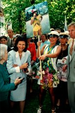 Crown Princess Victoria together with Queen Silvia and Princess Lilian during her degree at Enskilda High School.