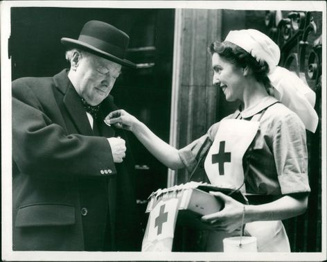 Winston Churchill with Miss Anne Barry