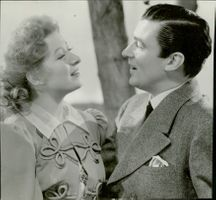 "Portrait of Greer Garson and Walter Pidgeon in ""Flowers in Shadow"""
