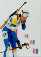 Magdalena Forsberg failed to hold back the disappointment after the 15 km shooters.
