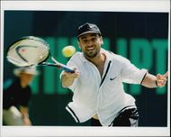 Tennis player Andre Agassi.