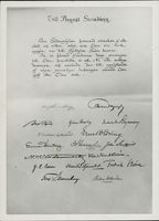 A gift letter to August Strindberg