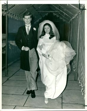 Lord Strathnaver and his bride, Miss Eileen Baker.