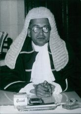 Photograph of Mr. Tikiri Banda Subasinghe. Appointed Speaker of Ceylon's House of Representatives.