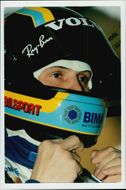 Portrait picture of racing driver Rickard Rydell taken in conjunction with a contest at Donnington Park.