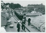 King Gustaf VI Adolf and Queen Louise's England Visit 1955.