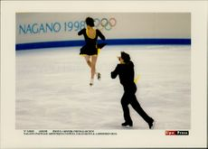 Winter Olympics in Nagano 1998. O Kazakova and A. Dimitriev