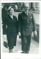 Lord Worsley with his wife.