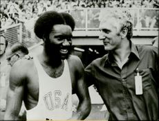 Rod Milburn and Martin Lauer during the 1972 Olympic Games