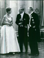 Princess Birgitta of Sweden and Prince Johann Georg of Hohenzollern with Frederick, Prince of Hohenzollern.