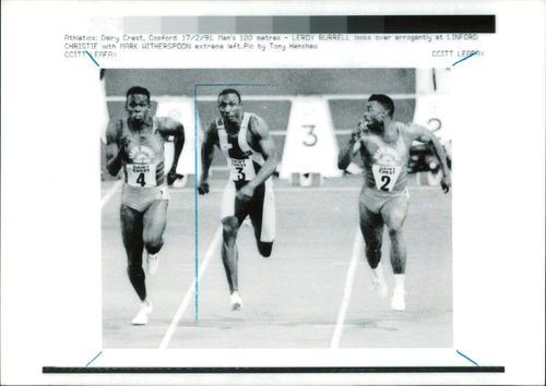 Linford Christie and Mark Witherspoon.
