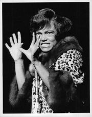 Eartha Mae Kitt giving expression.