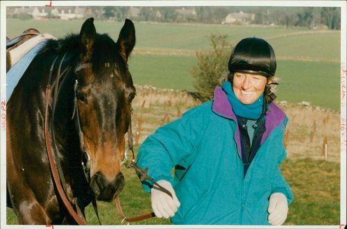 British equestrian Lucinda Green with horse 'Dubacilla'