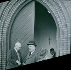 People gathered in the church in Denmark during WWII.