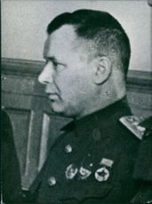 Col.-Gen. of aviation a. Novikov. Soviet Service Chief.