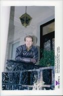 Stefan Edberg outside his home in London
