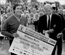 Seve Ballesteros wins the SEO golf.