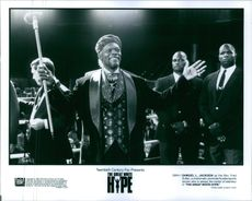 """Samuel L. Jackson as the Rev. Fred Sultan, a charismatic promoter/hustler sports tycoon who is always the center of attention in """"The Great White Hype."""""""