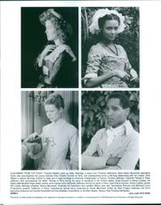 """Portraits of actor and actresses of movie """"Jefferson in Paris."""" Jefferson in Paris is a 1995 Franco-American historical drama film, directed by James Ivory, and previously entitled Head and Heart. The screenplay, by Ruth Prawer Jhabvala, is a se"""