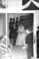 Princess Margaret on her wedding day.