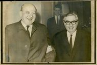 Lord George Brown (r) with Mr. David Dean Rusk