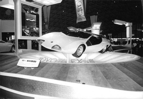 Model of a Toyota EX-III (a gran turismo for two passengers) shown at the 1969 Tokyo Motor Show.