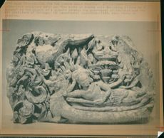 Sculpture 'The Birth of Bramma with Reclining Visnnu on a Makara'