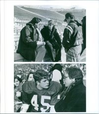 """Two scenes from the film, """"Rudy""""."""