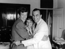Raoul Levy with his wife and son.