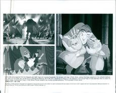 Different scenes from the film The Hunchback of Notre-Dame, 1996.
