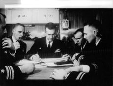 US Navy officers planning.